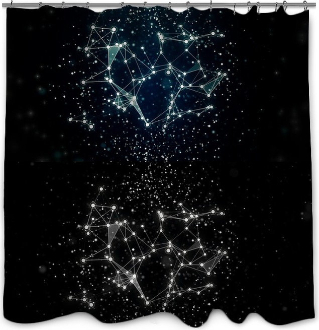 Abstract Stars Constellation Shower Curtain Pixers We Live To