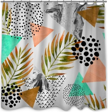 Abstract summer geometric seamless pattern Shower Curtain
