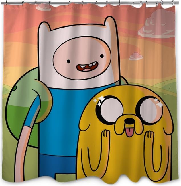Adventure Time Finn Jake Shower Curtain