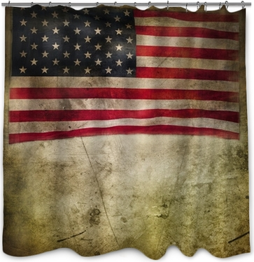American flag Shower Curtain • Pixers® • We live to change