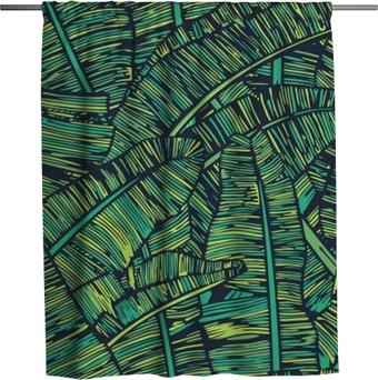Banana Leafs Pattern Shower Curtain