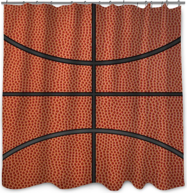Basketball Background Shower Curtain