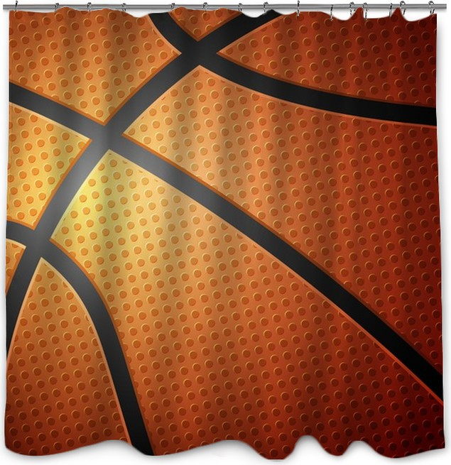 Basketball Ball Background Shower Curtain