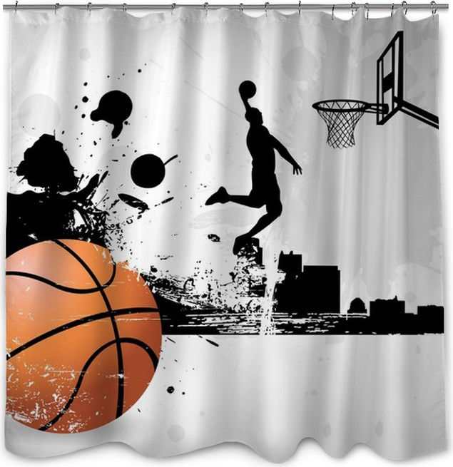 Basketball Player Shower Curtain
