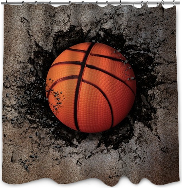 Basketball Shower Curtain O PixersR We Live To Change