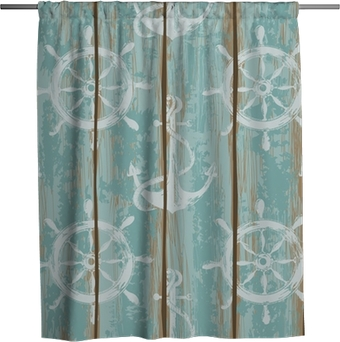 Boards of ship deck seamless pattern Shower Curtain