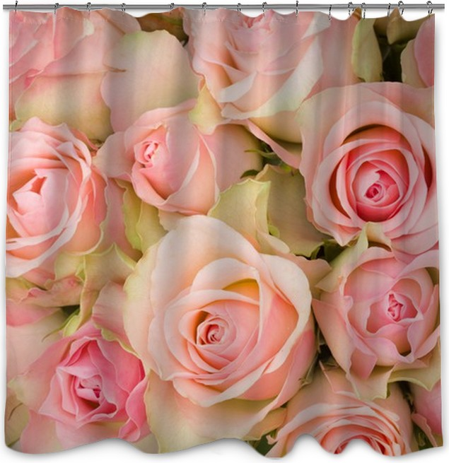 bouquet of pink roses Shower Curtain • Pixers® • We live to change