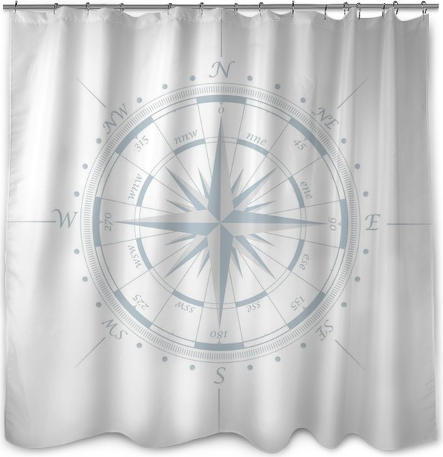 Compass rose Shower Curtain • Pixers® • We live to change