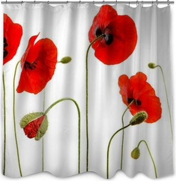 Poppies Shower Curtains • Pixers®