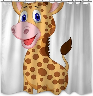 Cartoon Zebra Shower Curtain O PixersR We Live To Change