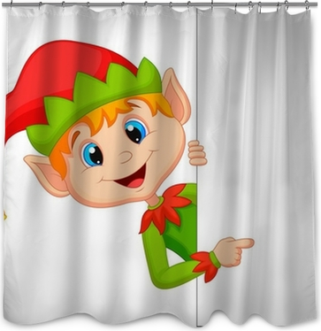 Cute Christmas Elf Pointing Poster O PixersR We Live To Change