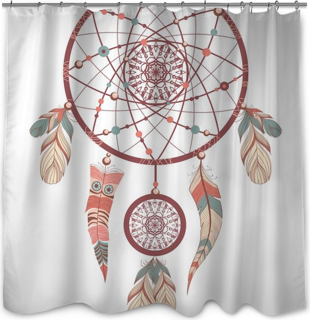 Dream Catcher Romantic Shower Curtain