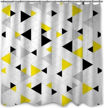 Geometric Pattern Background Shower Curtain