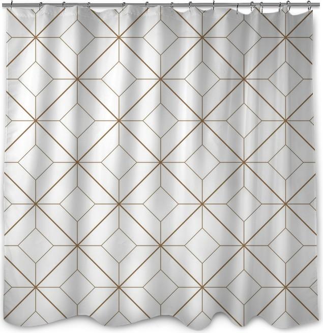 Geometric Pattern Shower Curtain O PixersR O We Live To Change