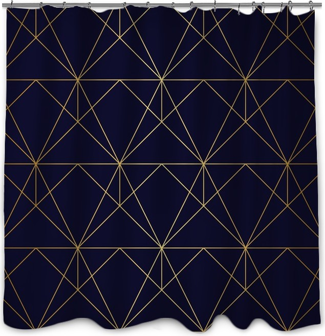 Seamless Geometric Pattern Golden Background G Shower Curtain