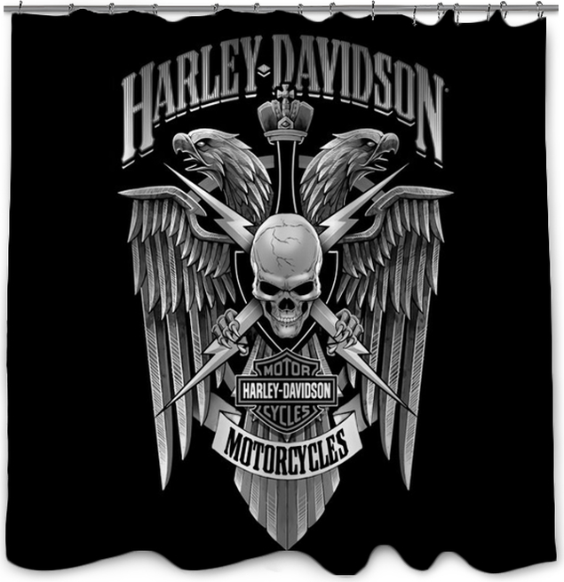 Harley Davidson Shower Curtain Pixers We Live To Change