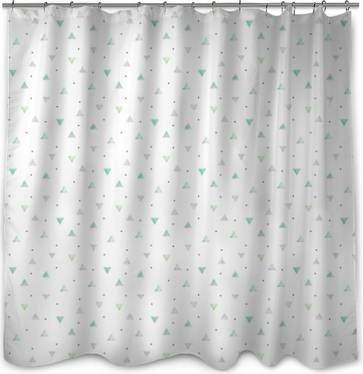Hipster Pattern With Triangles Texture Hologram Shower Curtain O PixersR We Live To Change
