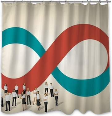 Infinity Symbol With Business People On Work Process Poster Pixers