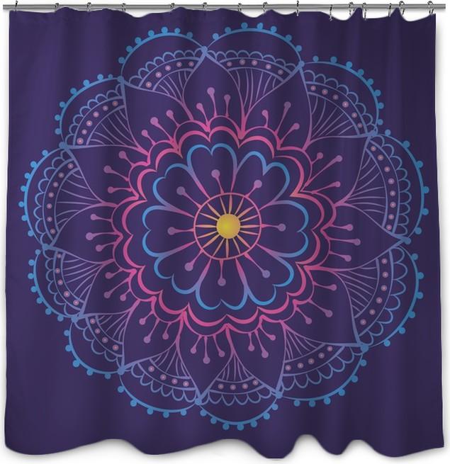 Luminant Mandala Shower Curtain