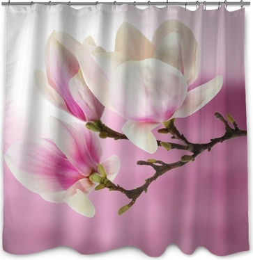 Magnolia Shower Curtain O PixersR We Live To Change