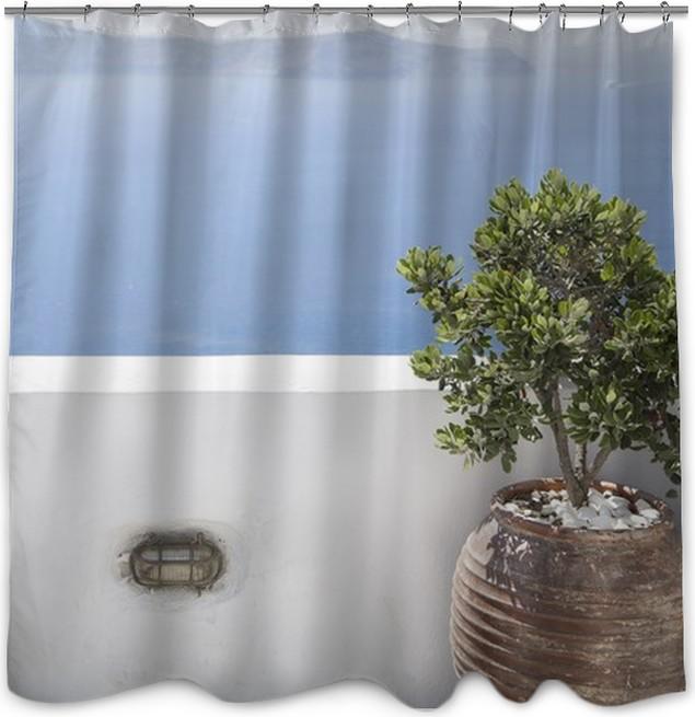 Mediterranean Terrace Shower Curtain