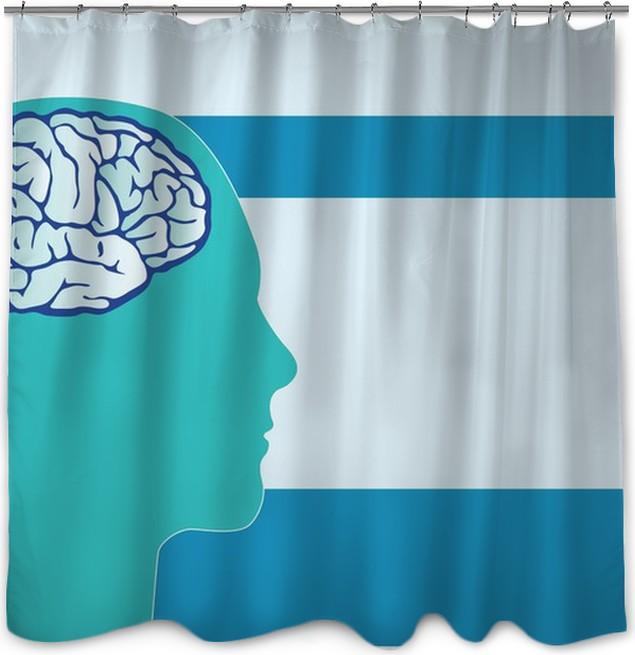 Neurology Medical Background Vector Shower Curtain