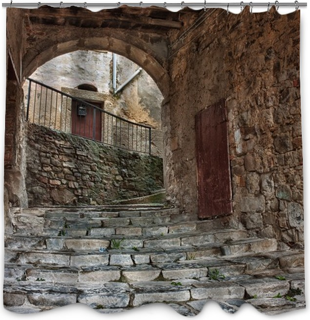 old alley in Tuscany Shower Curtain • Pixers® • We live to change