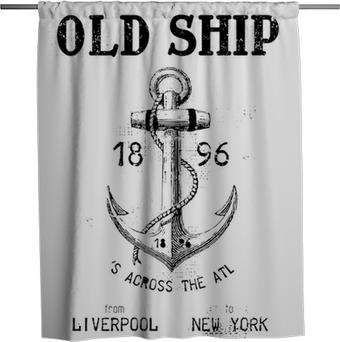 Old ship Shower Curtain
