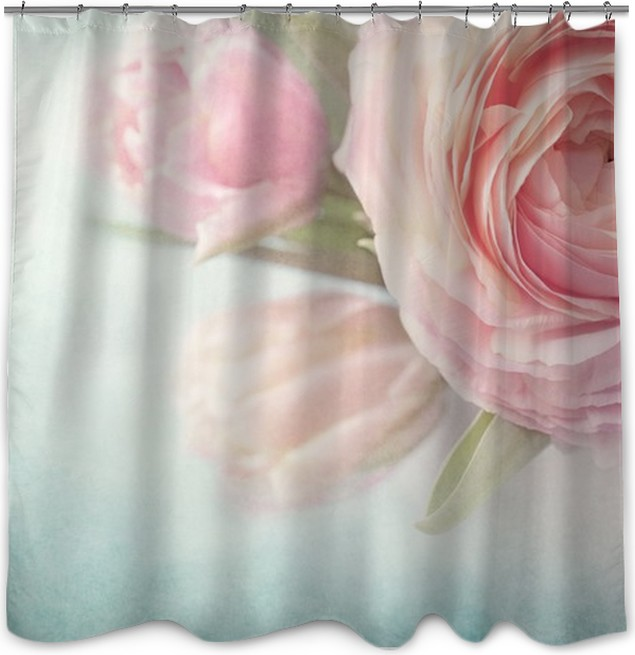Pink flowers shower curtain pixers we live to change pink flowers shower curtain mightylinksfo