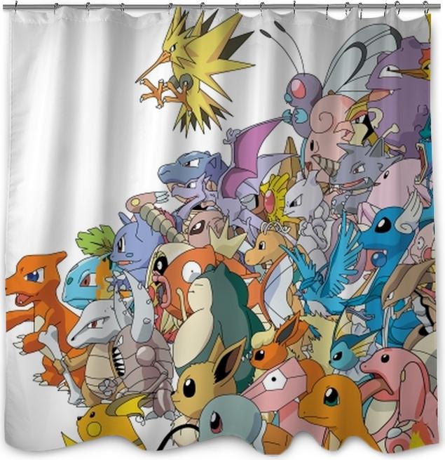 Pokemon Shower Curtain Themes