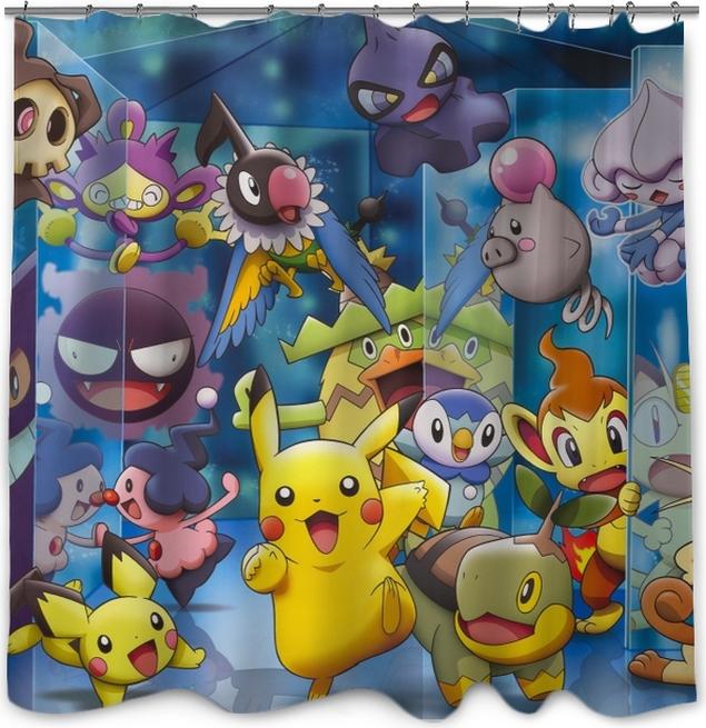 Pokemon Shower Curtain O PixersR We Live To Change