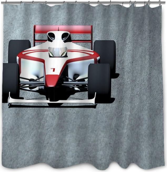 Race Car On Track Shower Curtain