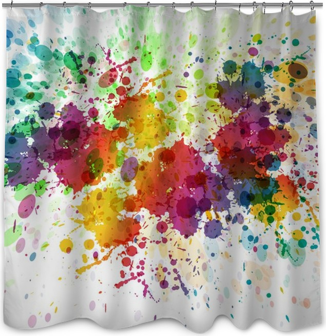 raster version of Abstract colorful splash background Shower Curtain ...