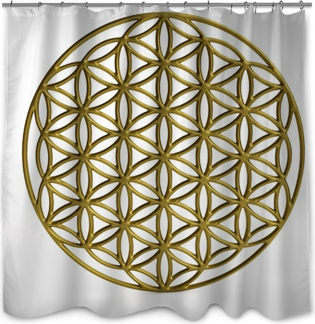 Sacral Symbol Flower Of Life In 3d Shower Curtain Pixers We