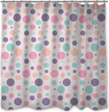 seamless dots pattern Shower Curtain