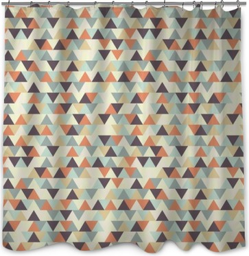 seamless geometric pattern Shower Curtain