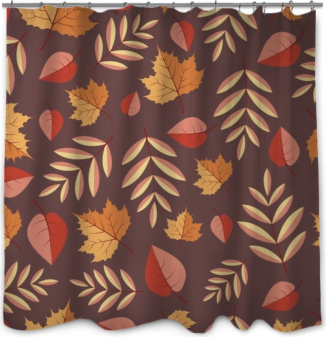 Seamless pattern with autumn leaves on a white background Shower ...