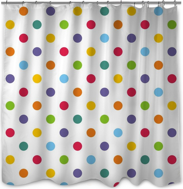 Seamless vector pattern or background with colorful polka dots ...