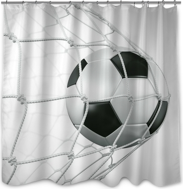 Soccerball in net Shower Curtain