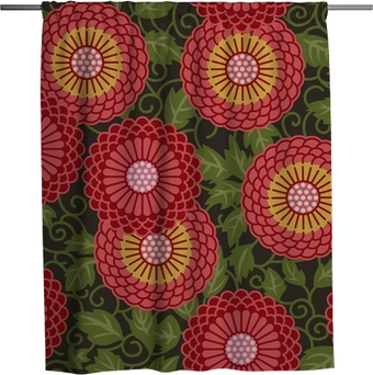 Traditional flowers seamless pattern Shower Curtain