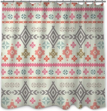 Tribal art ethnic boho seamless pattern Shower Curtain