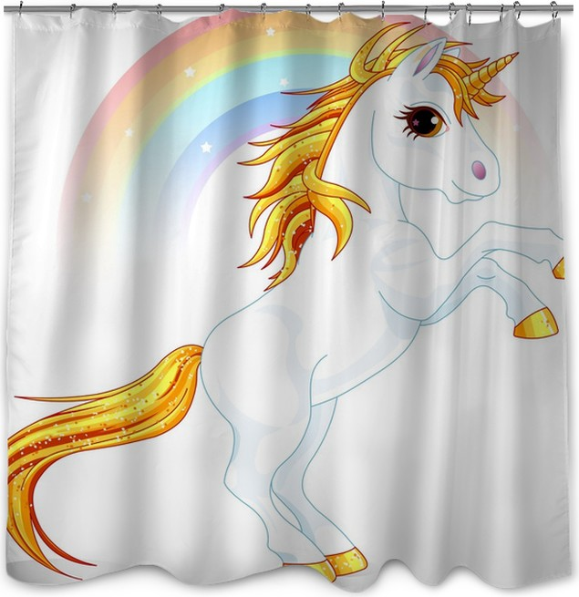 Unicorn Shower Curtain O PixersR We Live To Change