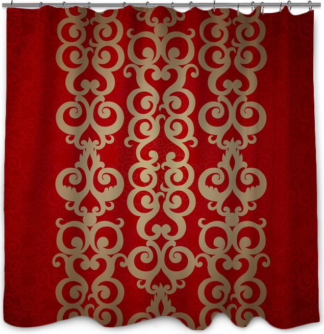 Vector Seamless Border In Victorian Style Shower Curtain
