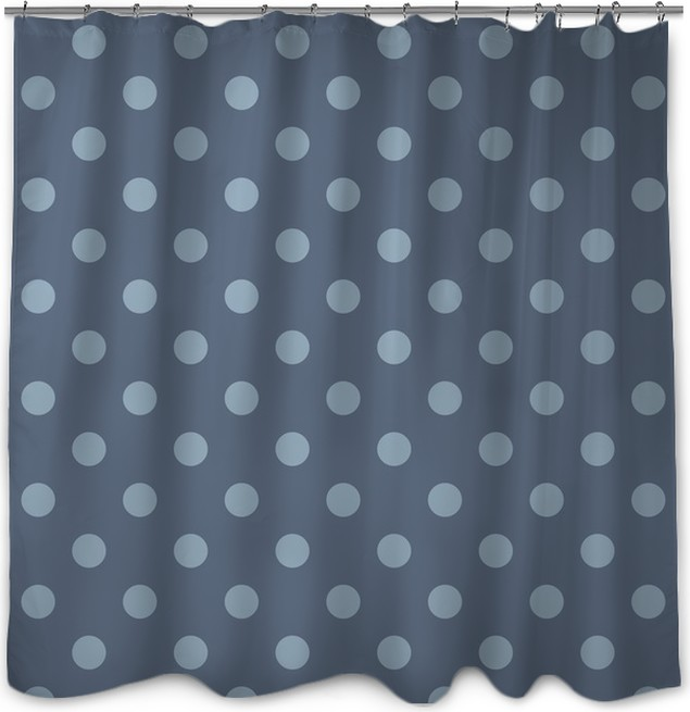 Vector seamless pattern polka dots sailor navy blue background ...
