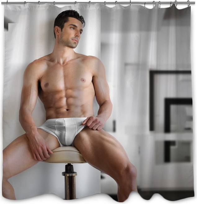 Very Sexy Young Fit Man Shower Curtain Lifestylebody Care And Beauty