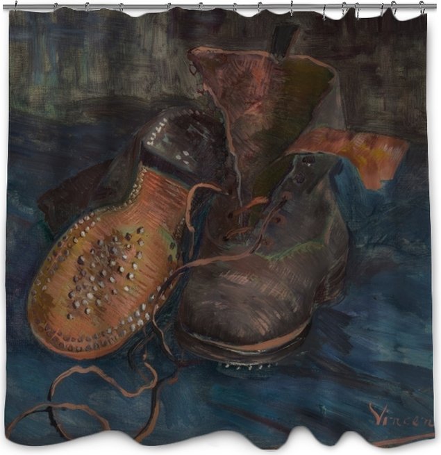 652c15b37ccae7 Vincent van Gogh - Shoes Shower Curtain • Pixers® • We live to change