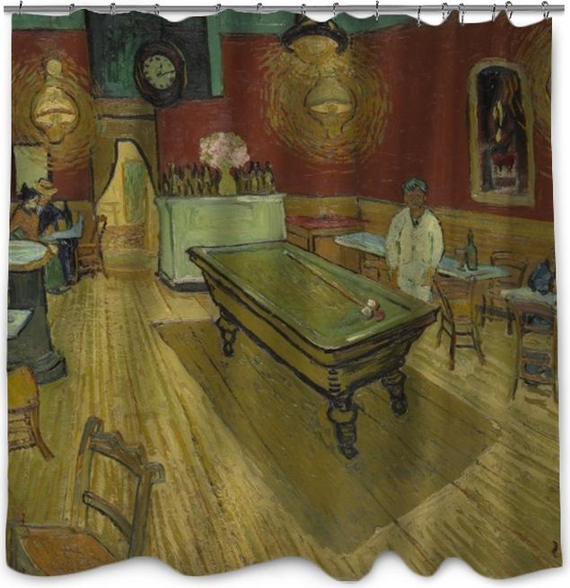 8b3f478f8f298a Vincent van Gogh - The Night Café Shower Curtain • Pixers® • We live ...