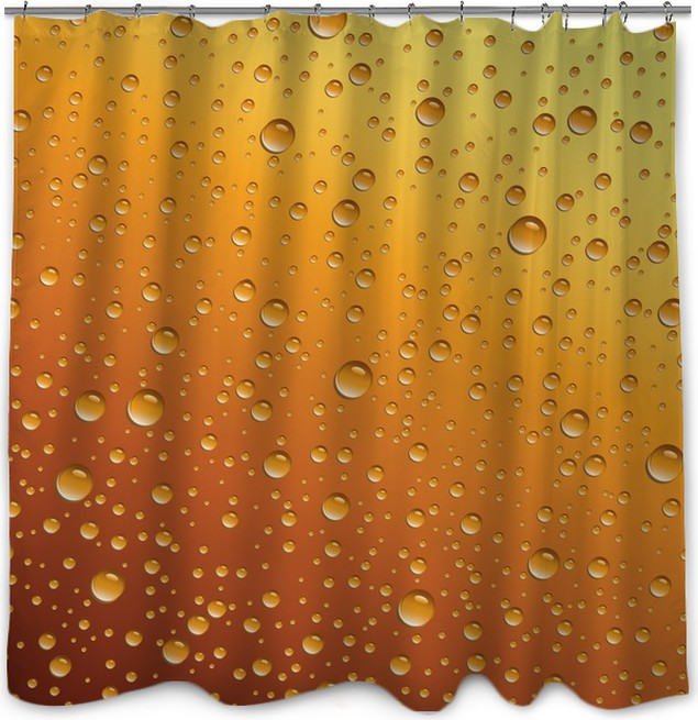 Water Drops On Beer Shower Curtain