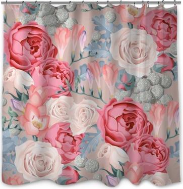 Wedding flowers seamless Shower Curtain