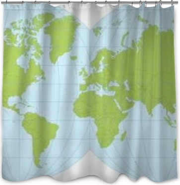 World Map Shower Curtain Business